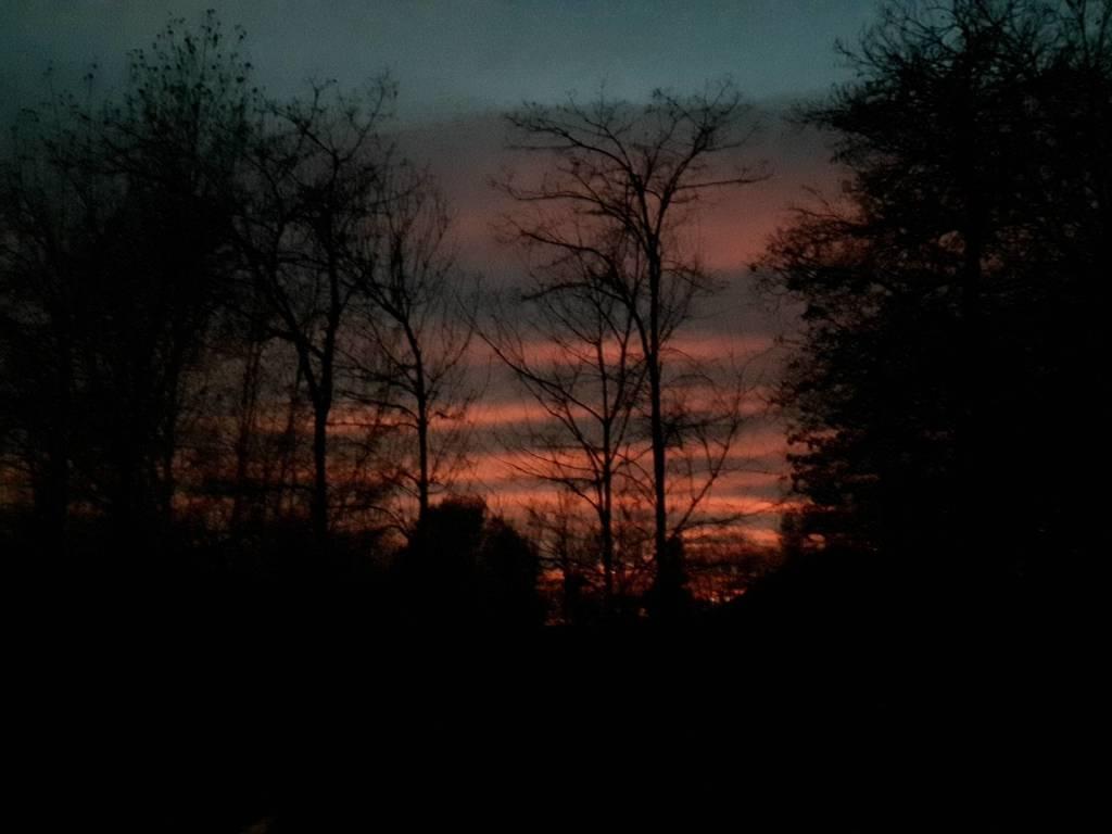 il super tramonto di martedì 21 novembre 2017