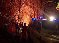 Incendio a Mondonico, l'intervento dei Vigili del Fuoco