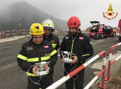 Incendio di Mondonico, drone dei Vigili del Fuoco al lavoro