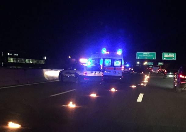 Incidente A8 tra Castellanza e Busto Arsizio