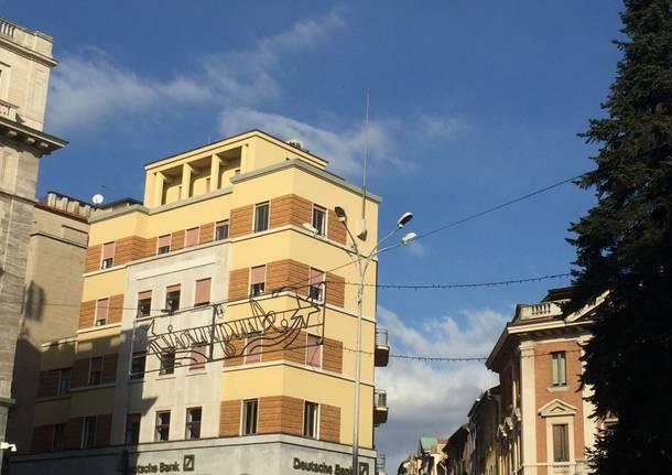 le luminarie in piazza monte grappa