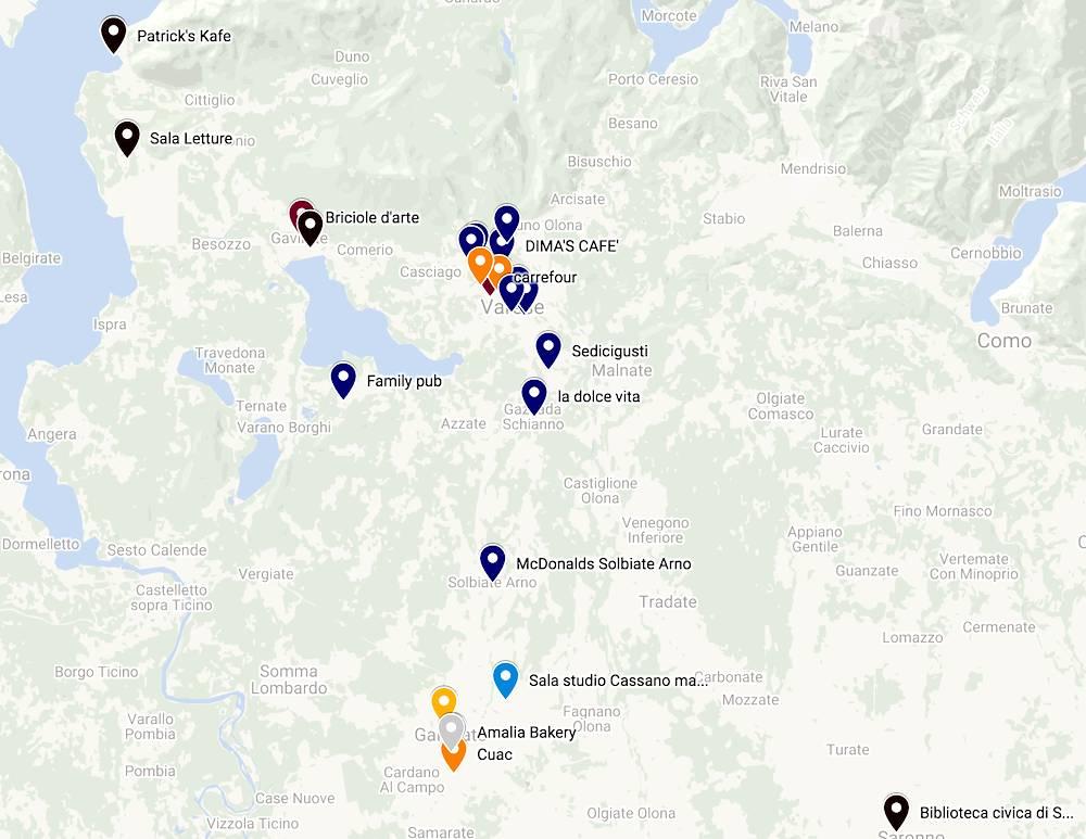 Mappa locali