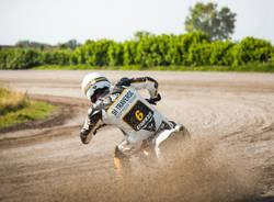 Marco Belli flat track di traverso school motociclismo