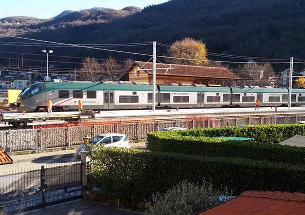 Porto Ceresio - Primi treni di prova