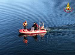 recupero cervo lago vigili del fuoco