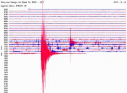 Terremoto Parma, sismografo del Centro Geofisico Prealpino