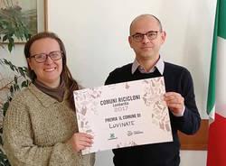Alessandro Boriani riceve il premio da Legambiente per lo smaltimento dei rifiuti