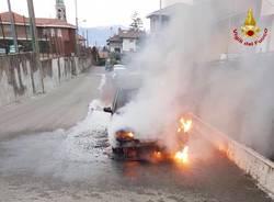 incendio auto golasecca