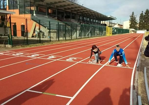 Pronta la nuova pista di atletica. Ancora lavori in corso in tribuna