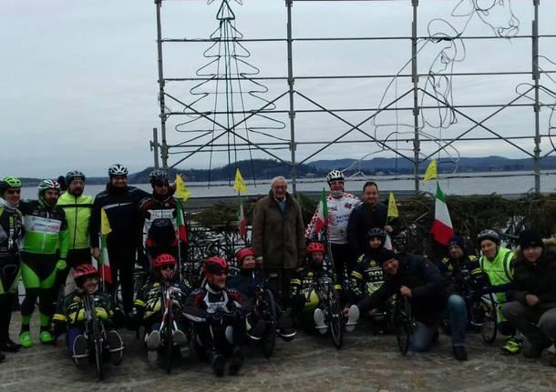 Da Malpensa a Belgirate in handbike per portare la stella