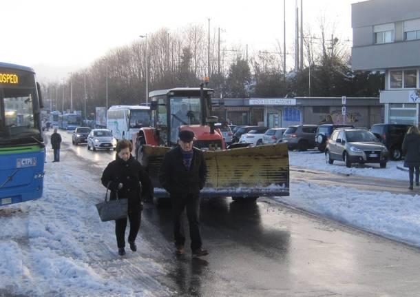 Dal Ponte al Comune, la situazione neve
