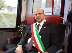 Induno Olona - Una rosa sul treno per Maria Angela Bianchi