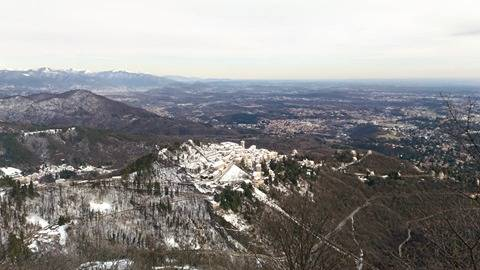 Sacro Monte innevato dicembre 2017 foto di Elena Giorgetti