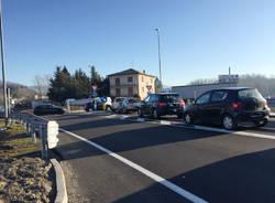 Cantello - Camion in coda al Gaggiolo