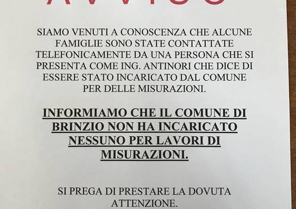 Brinzio: sedicente ingegnere telefona agli abitanti spacciandosi per incaricato comunale. Cosa vuole?