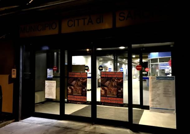 Blitz animalista in Municipio per la festa di Sant\'Antonio