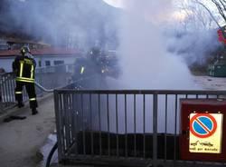 Incendio in discarica
