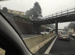 Incidente in A8, tra Busto Arsizio e Castellanza