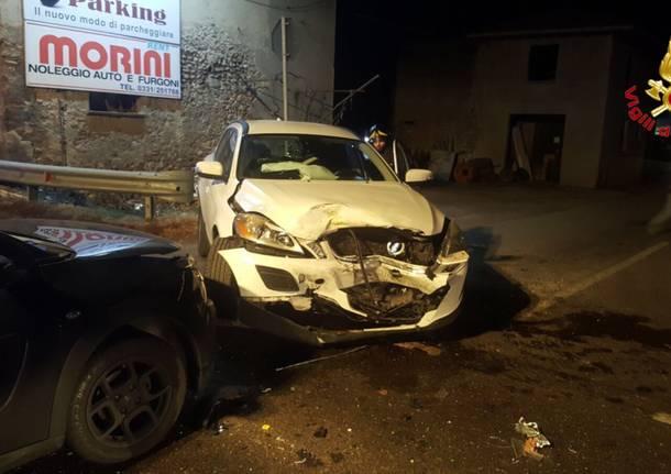 Somma Lombardo, incidente sulla 336 nella notte