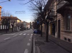 lavori marciapiedi Gavirate 21 gennaio 2018