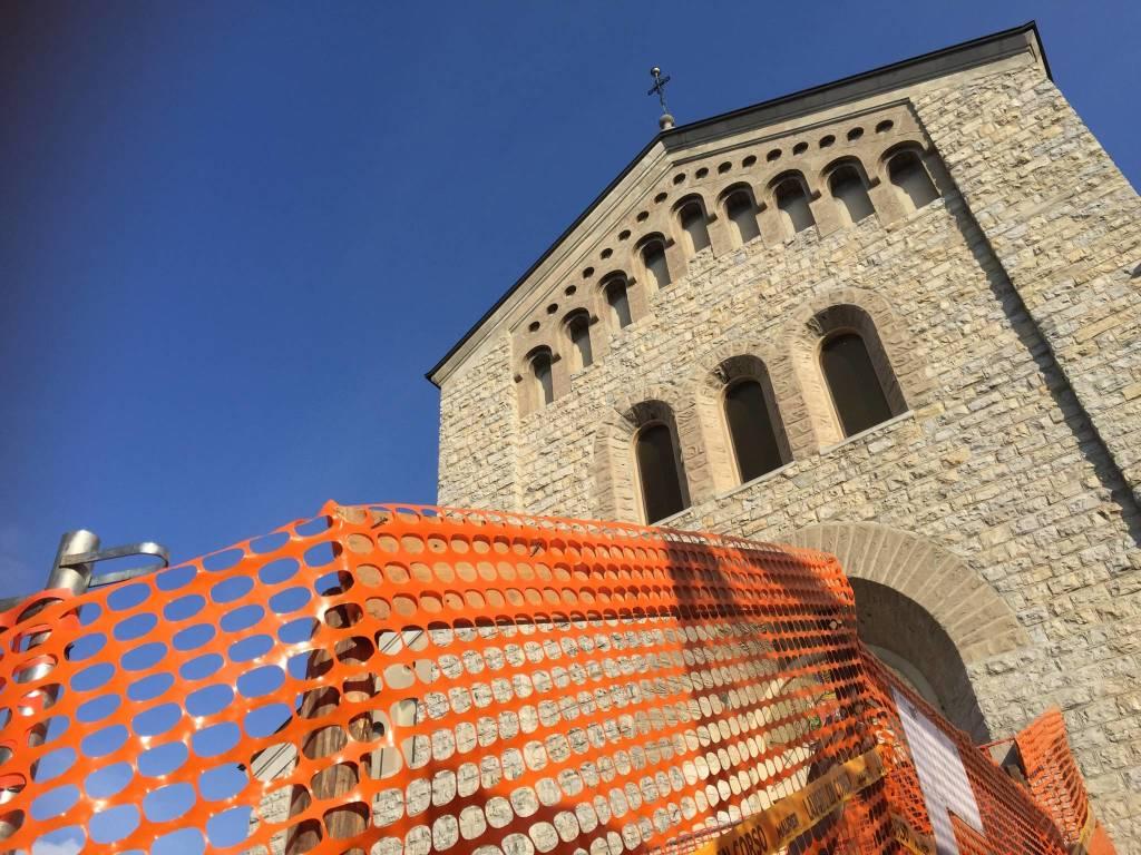 Grandi Lavori in corso alla chiesa di Giubiano