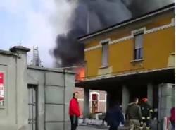 Incendio a Solbiate Olona