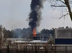 incendio azienda rifiuti bulgarograsso