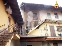 Incendio in un appartamento di Lonate Pozzolo