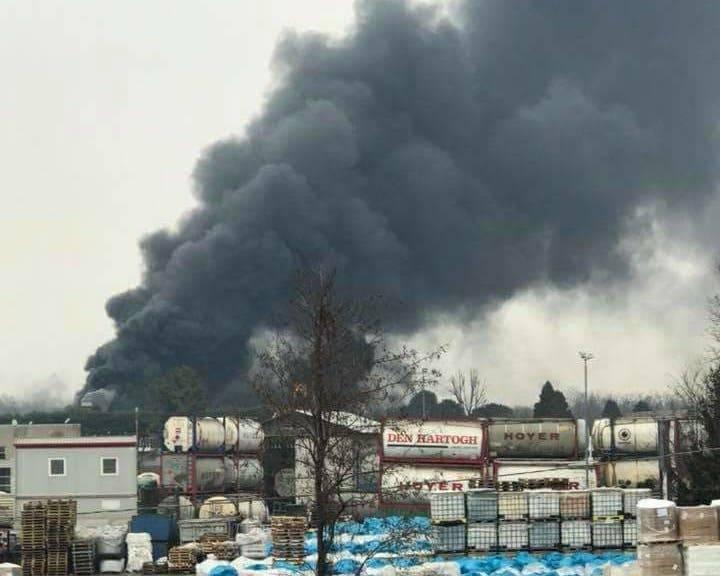 Incendio industria tessile Cassano Magnago