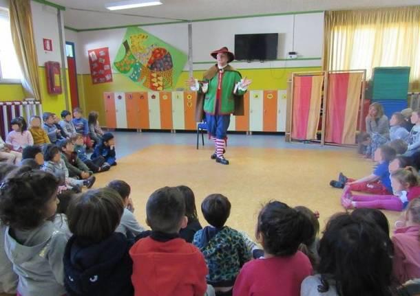 """Pin Girometta incontra i bambini della materna """"Dalla Chiesa"""""""