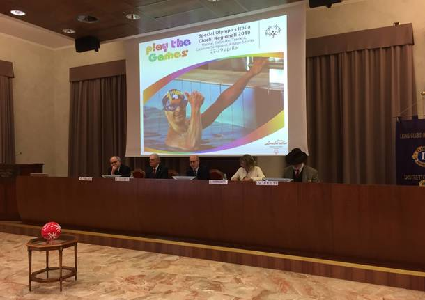 Presentazione Special Olympics - Varese 27 / 29 aprile 2018
