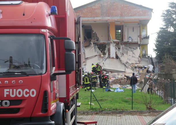 esplosione in palazzina a Rescaldina