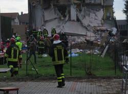 Esplosione palazzina Rescaldina Milano