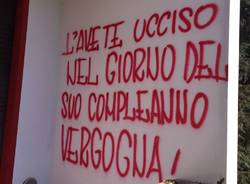 Scritte stadio Franco Ossola