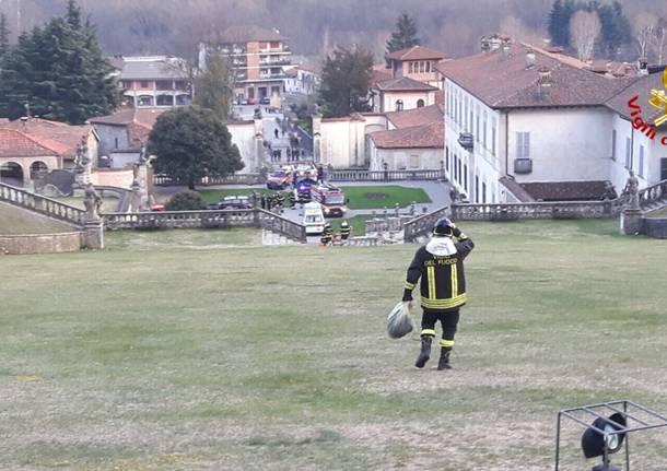 Soccorso a Villa Della Porta Bozzolo Vigili del Fuoco