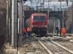 Somma Lombardo investita dal treno