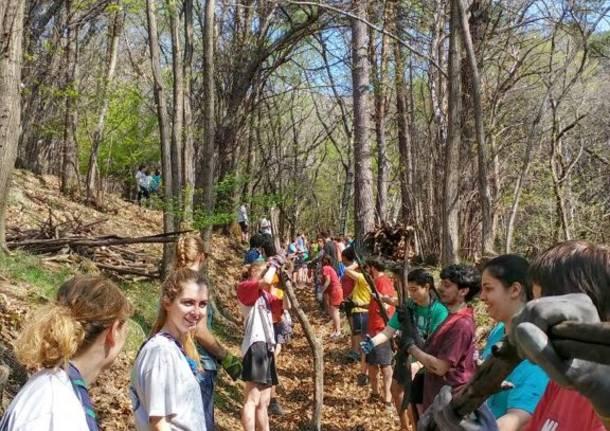 Barasso - Grandi pulizie con gli scout tra Barasso e Luvinate