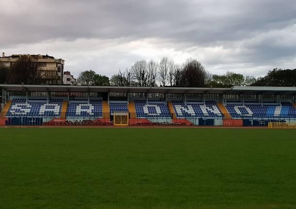 Saronnesi entusiasti della nuova tribuna del Colombo Gianetti, svelata su fb