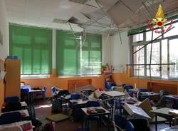 Il crollo alle scuole Bossi