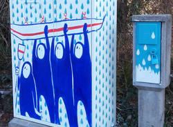 Le cabine semaforiche dipinte a Varese