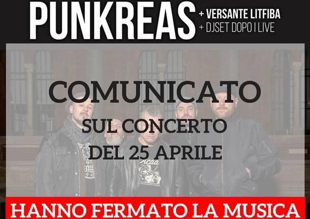 concerto punkreas annullato