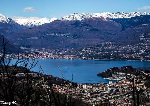 Domenico De Lucia panorami del lago Maggiore da Sangiano