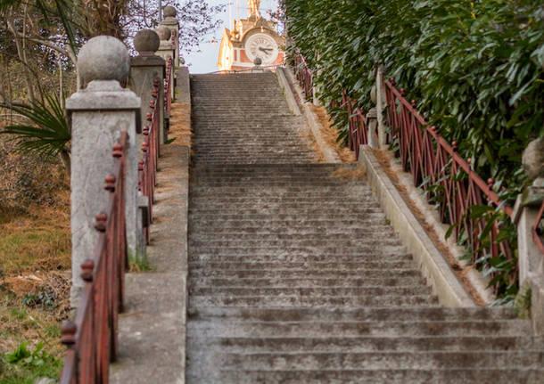 il viale dei Tigli e la scalinata di Crenna a Gallarate