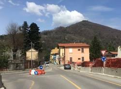 Induno Olona - Rotonda via Porro: inizio dei lavori, aprile 2018