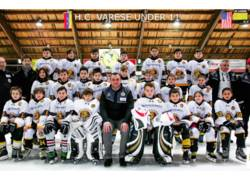 squadra under 11 hockey su ghiaccio mastini varese
