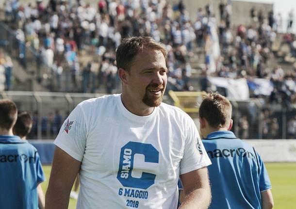 La festa per la Pro Patria in Serie C