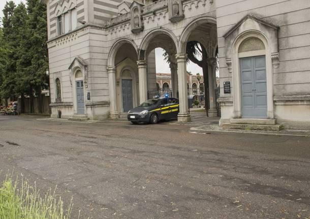 Guardia di finanza perquisizioni nella tomba di Stefania Federici