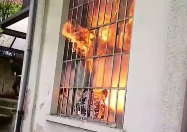 Incendio Enaip Varese