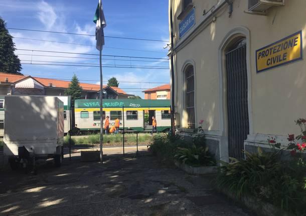 Persona investita dal treno