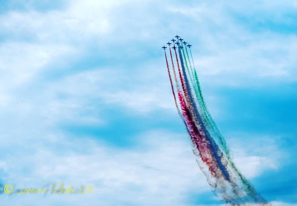 La bellezza delle frecce tricolori